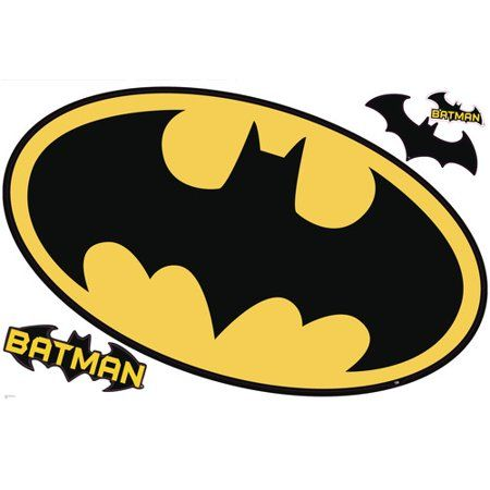 Batman Logo Dry Erase Peel and Stick Giant Wall Decals