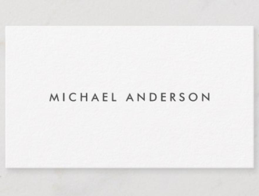 Modern Business Cards Plain White Zazzle Com Modern Business Cards Professional Business Cards White Business Card