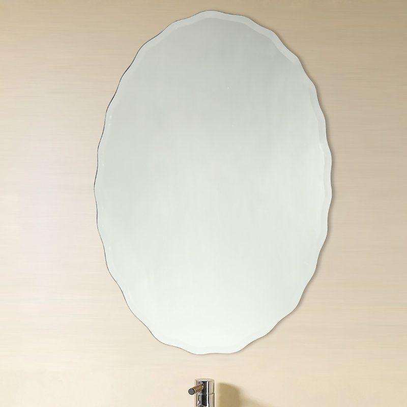 Denzer Modern Contemporary Venetian Bathroom Vanity Mirror Mirrors Wayfair Oval Mirror Mirror