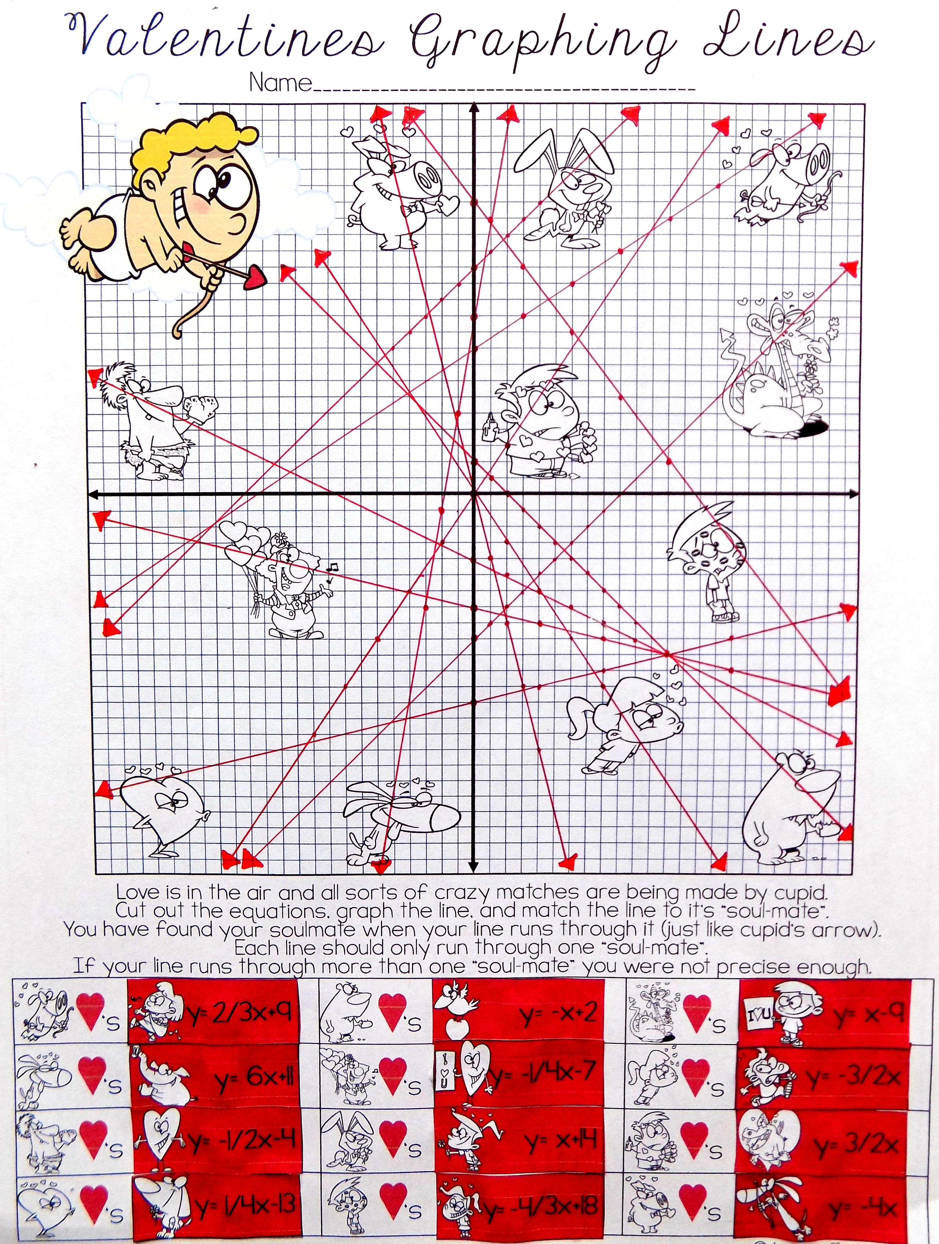 Valentine S Day Math Algebra Activity