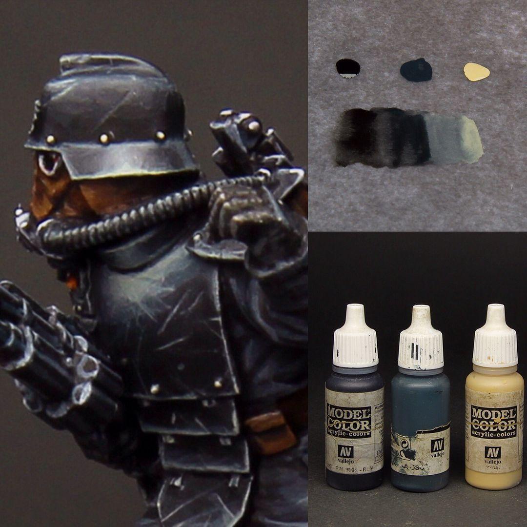 Paint It Black Part 1 Matt Armor Paints Used Black Dark Sea Blue Iraqui Sand All Vallejo Model Color Paint Mini Paintings Miniature Painting Warhammer