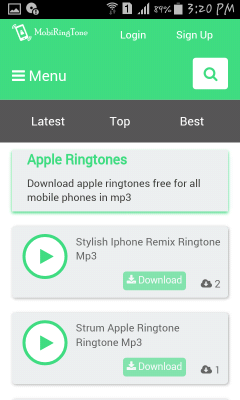 I phone ringtone download