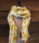 Our Yellow Flora scarf adds such a pretty pop of #spring color! #philanthropy #fashion