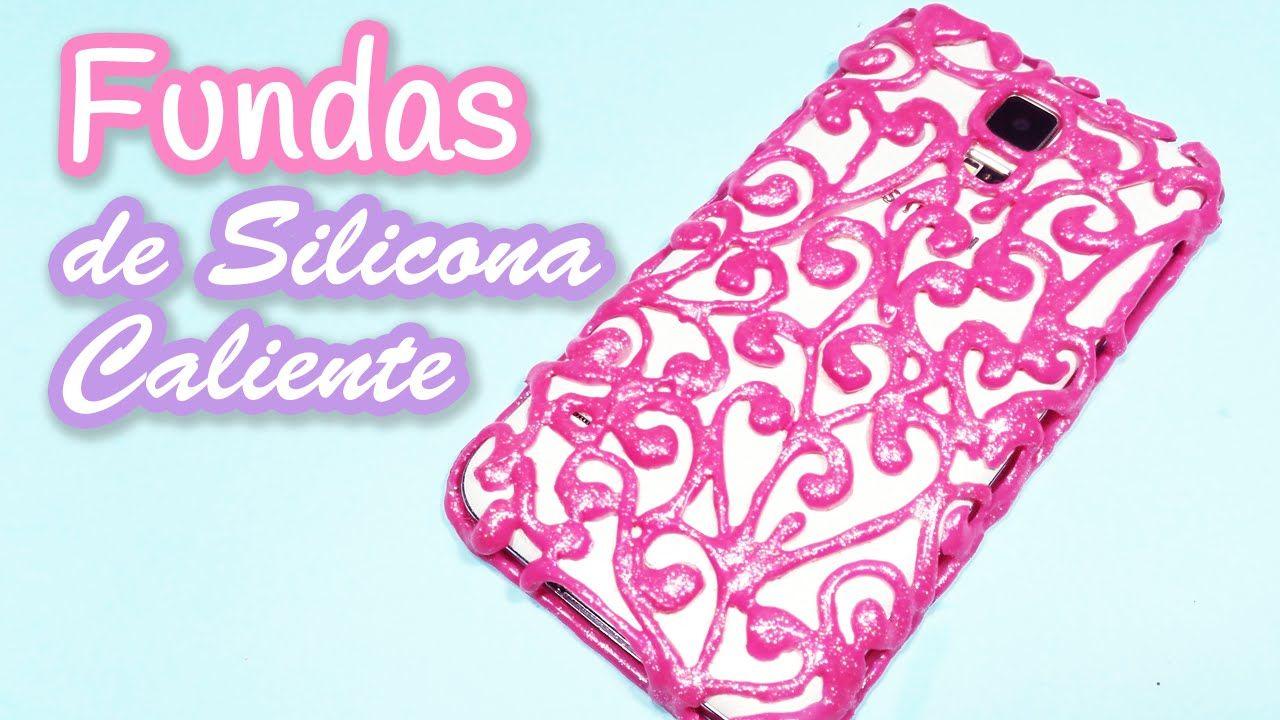 85319eee5f4 Manualidades: FUNDAS de SILICONA CALIENTE - Innova Manualidades. DIY  crafts: Hot glue phone case ...