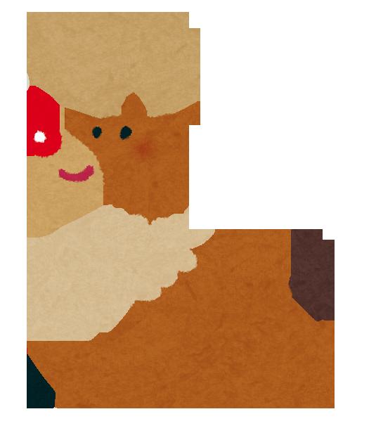 クリスマスのイラスト「トナカイ」