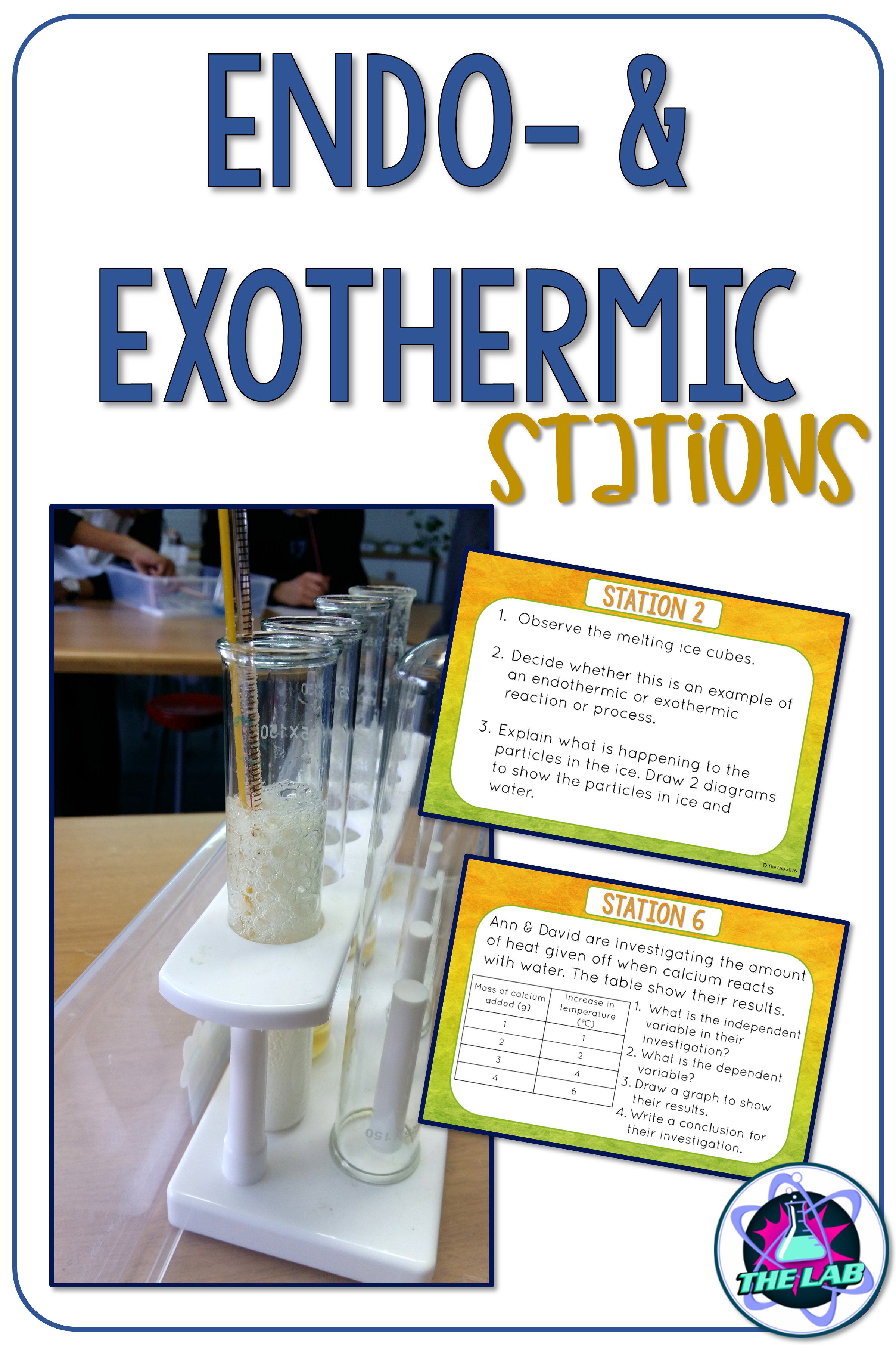 Endothermic Amp Exothermic Reactions Stations With Images