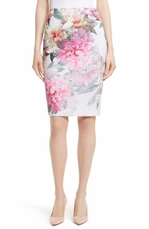487d7455f1845d Ted Baker London Melodey Painted Posie Pencil Skirt