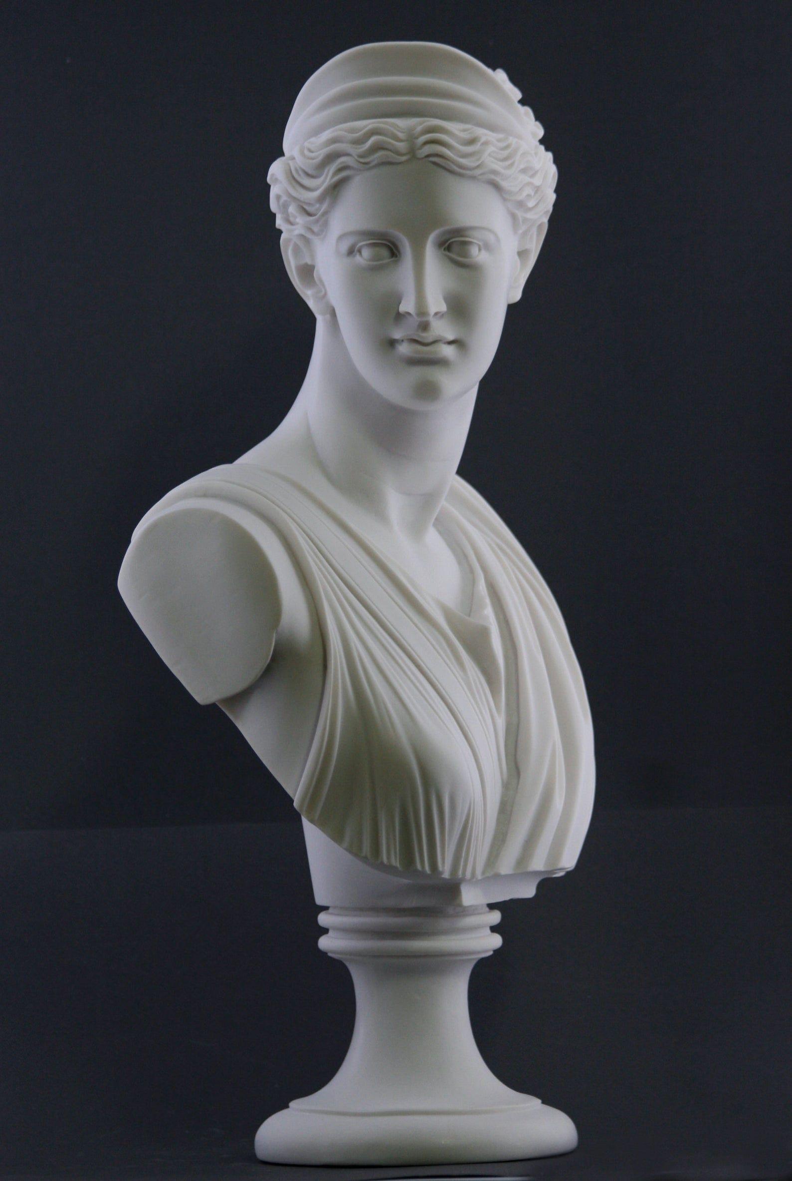 "11/"" Birth of Venus White Marble Finish Statue Home Decor Roman Goddess of Love"