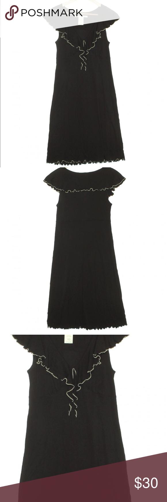 Max studio u black ruffle dress size small black ruffle ruffle