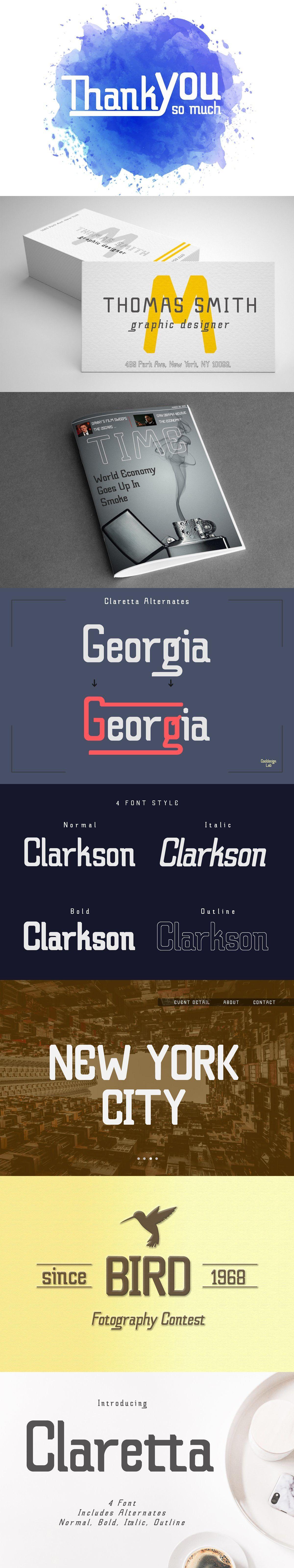 Claretta Font Family Web Graphic Design Font Family Futuristic Design