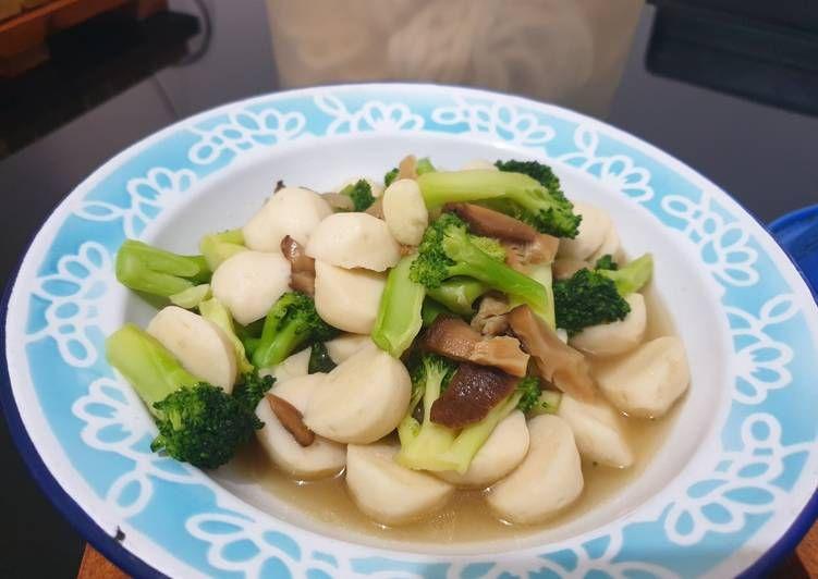 Resep Cah Brokoli Jamur Bakso Ikan Legit Dan Nikmat Resep Update Resep Brokoli Jamur Bakso