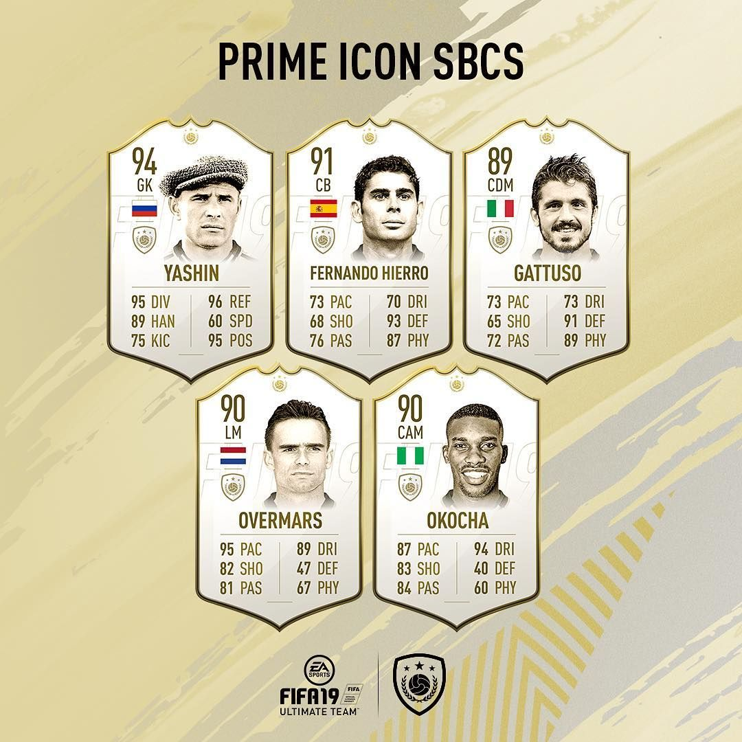 October 2018 / Prime ICON SBC FUT FIFA19