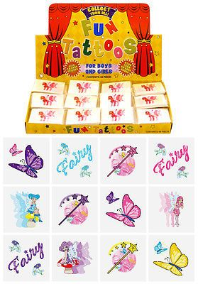 Details about Childrens Boys/Girls Temporary Tattoos, Kids Party Bag ...