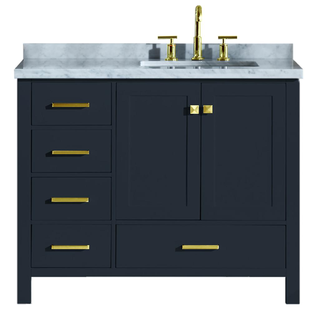 Ariel Cambridge 43 In W X 22 In D Vanity In Midnight Blue With