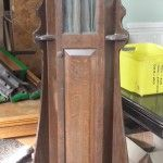 Arts and Crafts oak billiard cue cabinet | Browns Antiques Billiards and Interiors.