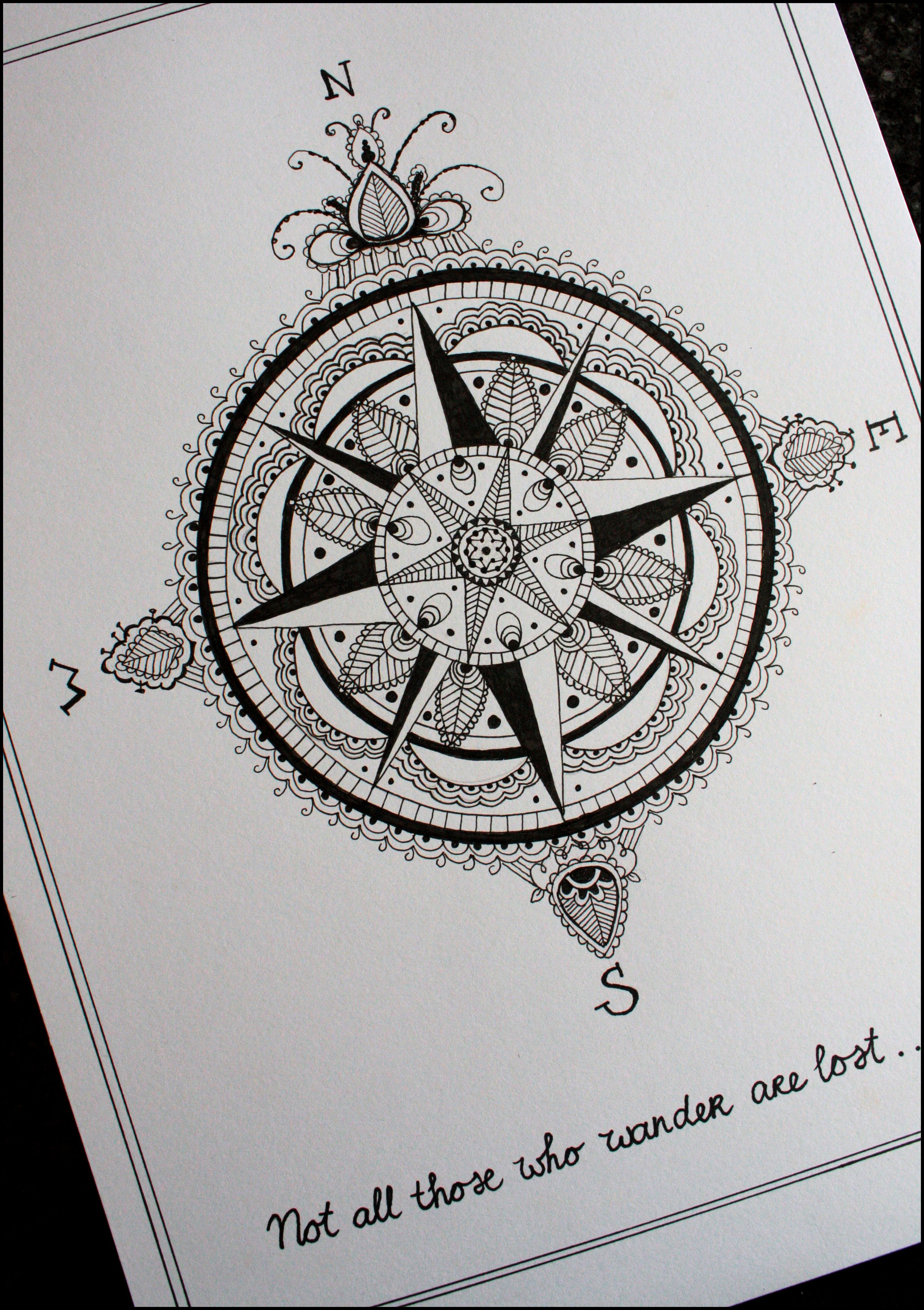 anchor and compass tattoo Compass Tattoo