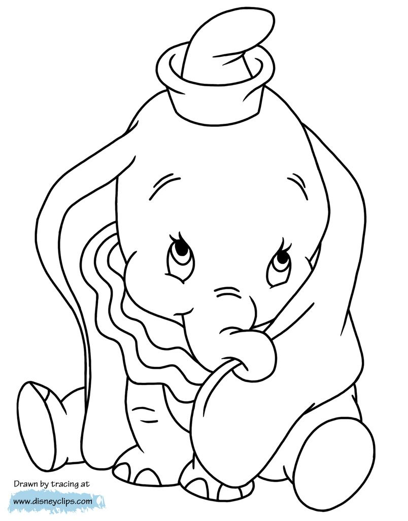 Adorable Dumbo Dumbo Babyelephant Cartoon Coloring Pages Disney Coloring Pages Disney Embroidery