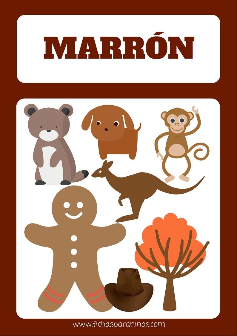 Ficha Para Aprender El Color Castano Color Marron Pinterest - El-color-marron