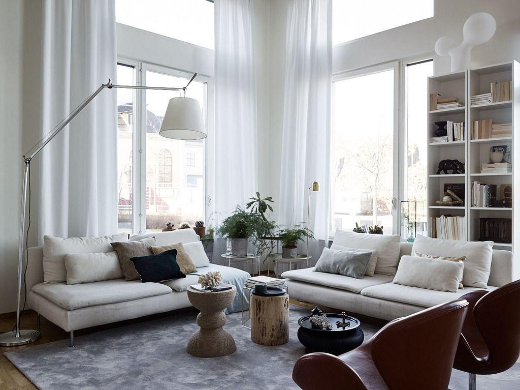 Ikea u0027Söderhamnu0027 sofas in elegant home #ikeasofasöderhamn - ikea wohnzimmer wei