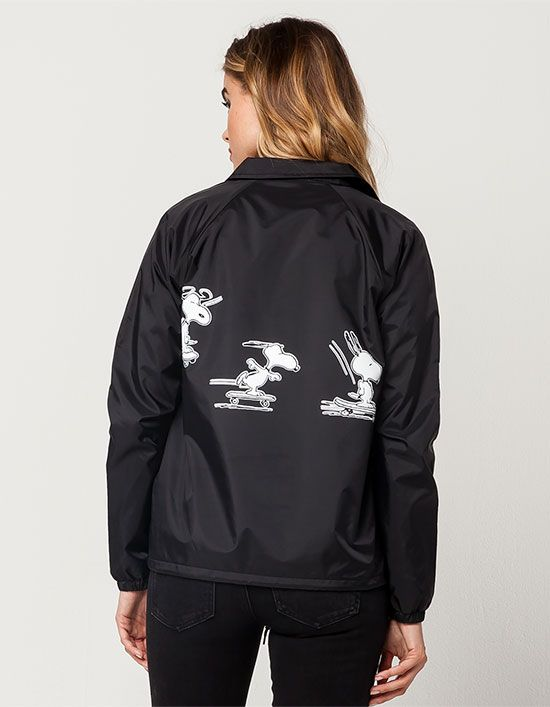 3cfe907588ad Vans x Peanuts Snoopy Skates coach jacket. Vans logo featuring ...