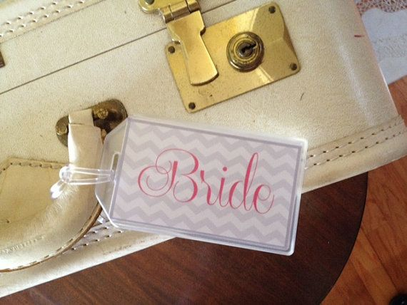 Personalized Luggage Tags Wedding Gift: Bride And Groom Luggage Tags By Inyourfavor On Etsy