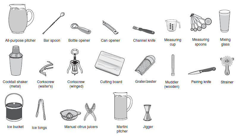 Bar tools | Bar Cart in 2019 | Bar tools, Tools, Bar spoon
