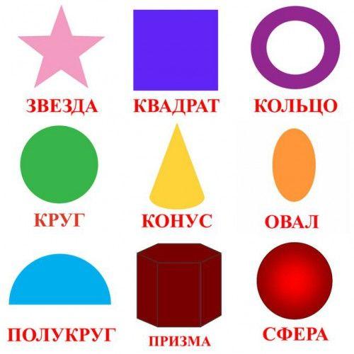 разные картинки из геометрических фигур