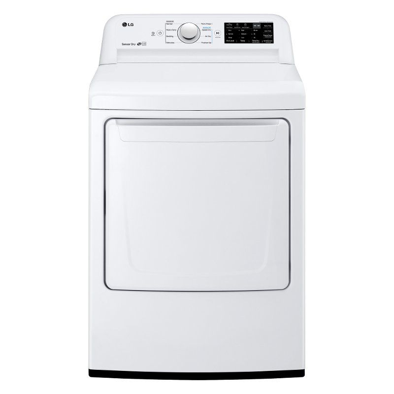 Lg Gas Dryer With Dial A Cycle White Gas Dryer Lg Electronics Dryer