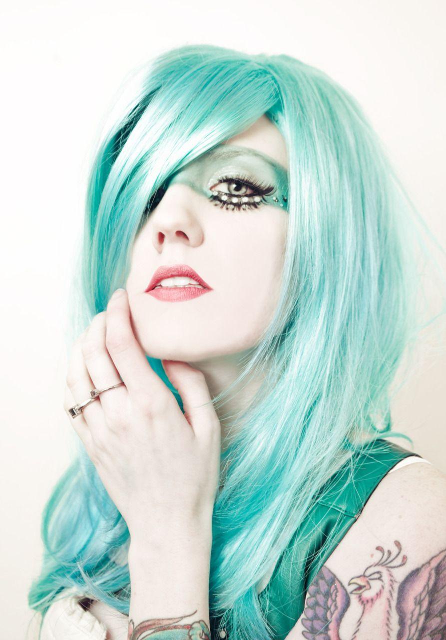Aqua blue hair the bold and the beautiful pinterest blue hair
