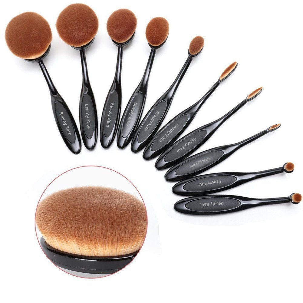 BeautyKate Set of 10 pcs Professional Oval Toothbrush