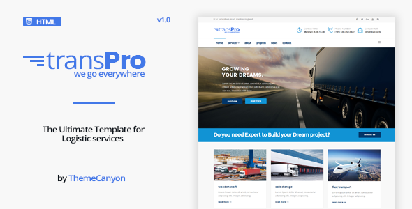 nice TransPro - Transport &amp Trucking Logistics HTML five Template (Business enterprise)