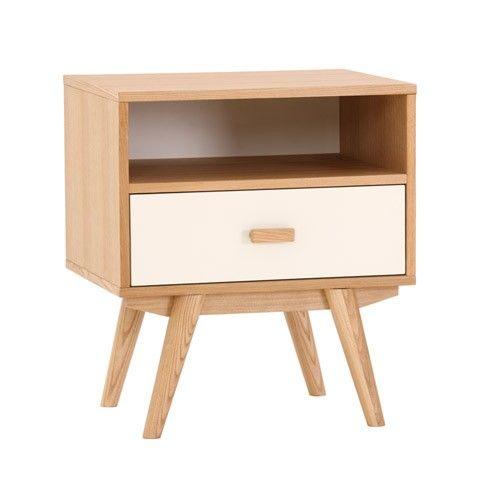 Sofia Bedside Table   1 Drawer 1 Shelf   Scandinavian Furniture   Milan  Direct