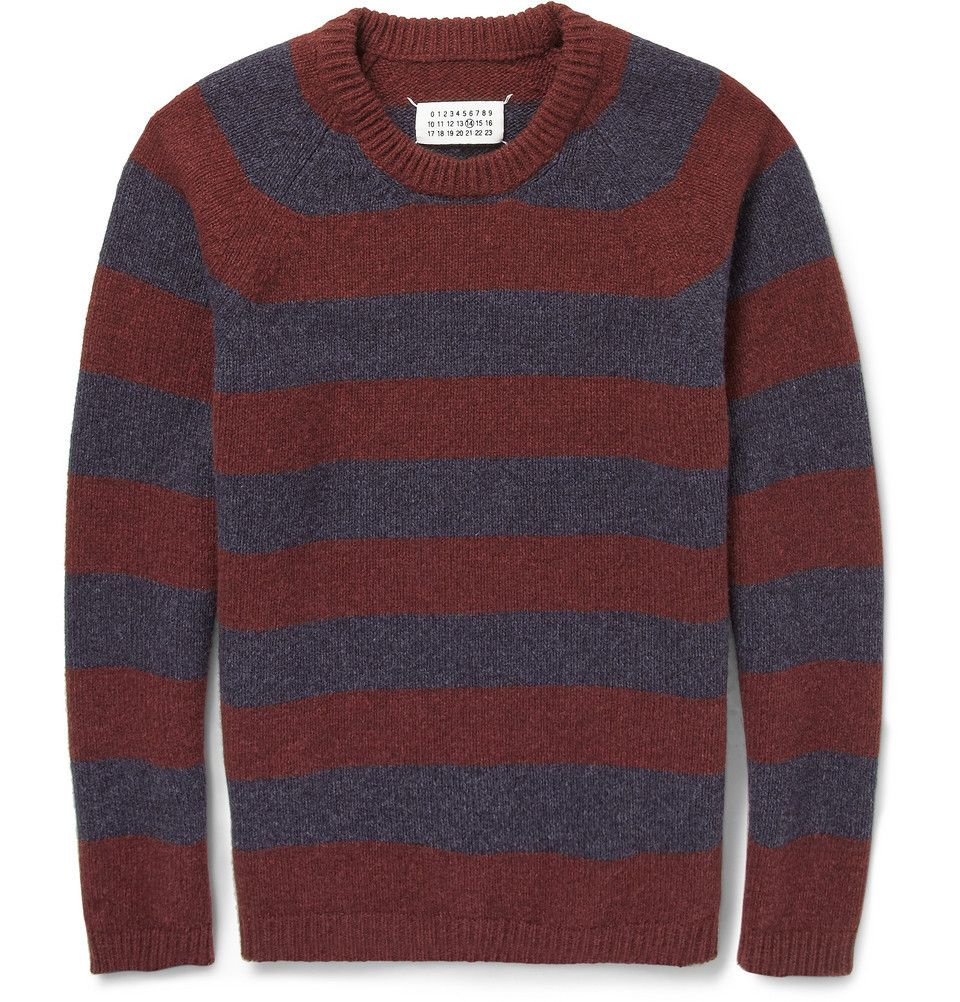 Striped Yak Wool #Sweater by Maison Martin Margiela - Found on HeartThis.com @HeartThis | See item http://www.heartthis.com/product/319656700899988483/