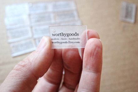 diy product tags with shrinky dink plastic at worthygoods