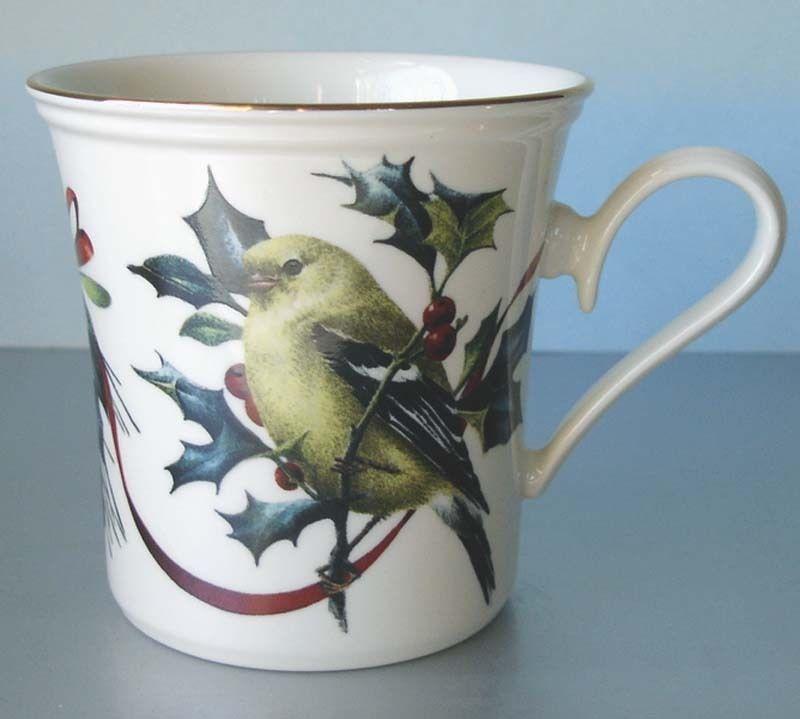 Lenox china winter greetings goldfinch mug avian art beverageware lenox china winter greetings goldfinch mug m4hsunfo