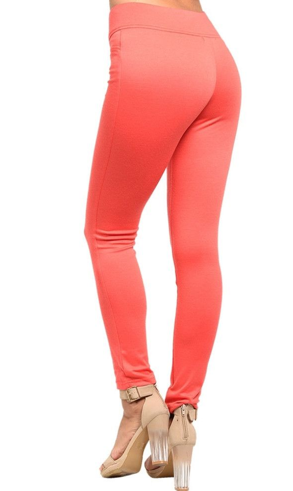 Feel sexy in these High Waist Coral Pants.