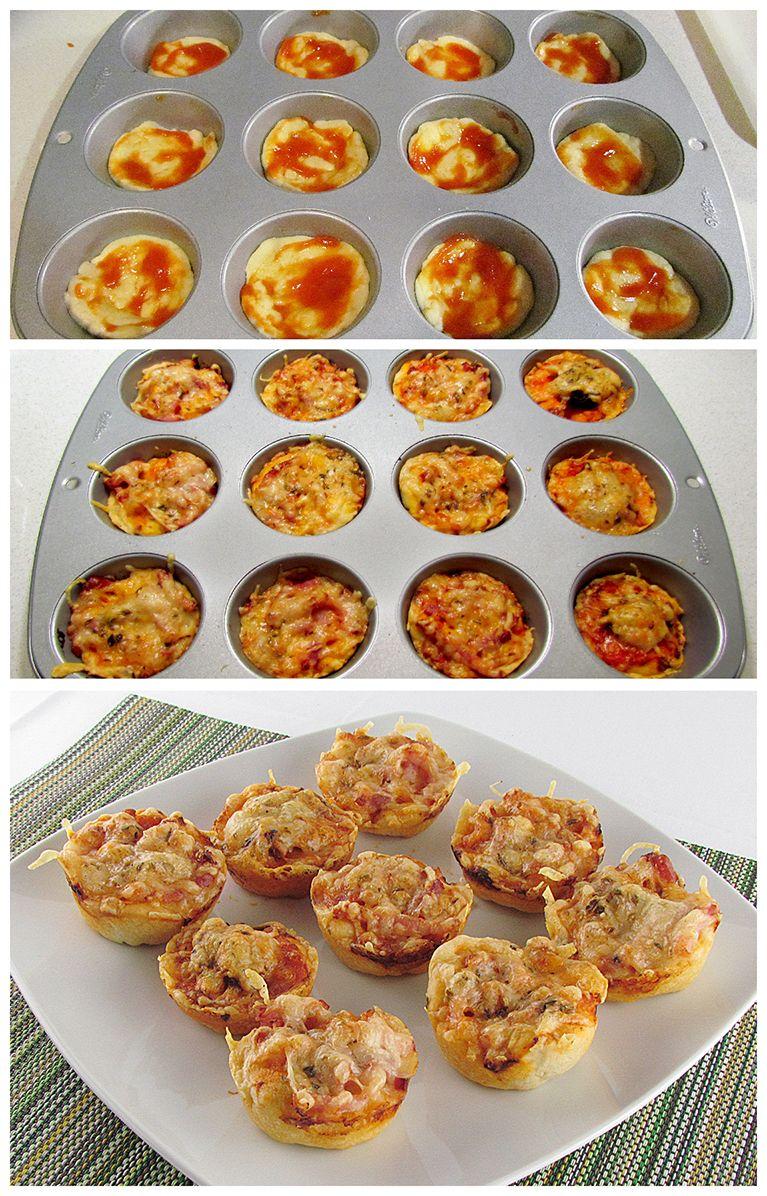 Muffins de pizza #thermomix
