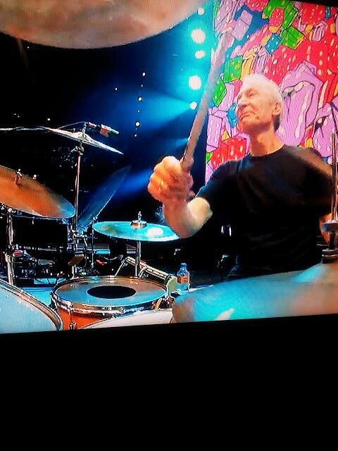 I was lucky there cache this moment with Charlie Watts !