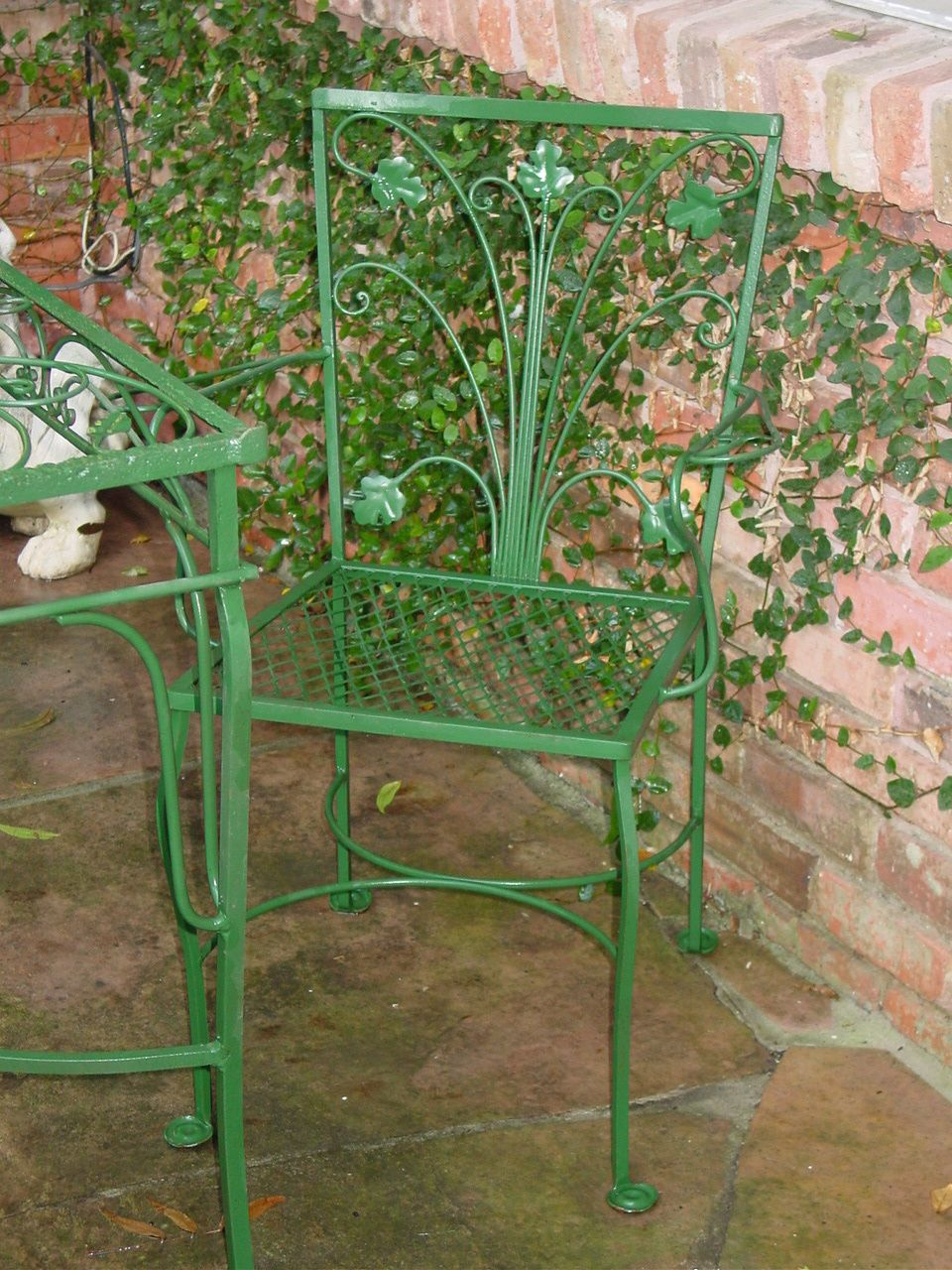 Details About Salterini 7pc Wrought Iron Art Deco