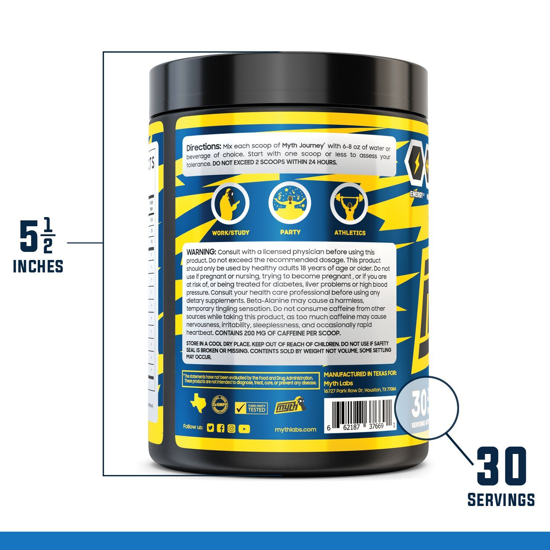 Myth Journey Pre Workout Powder For Men Energy Supplement Preworkout Drink Caffeine Alpha Gpc Lcitrulline Betaalanine F Supplements Preworkout Energy Powder
