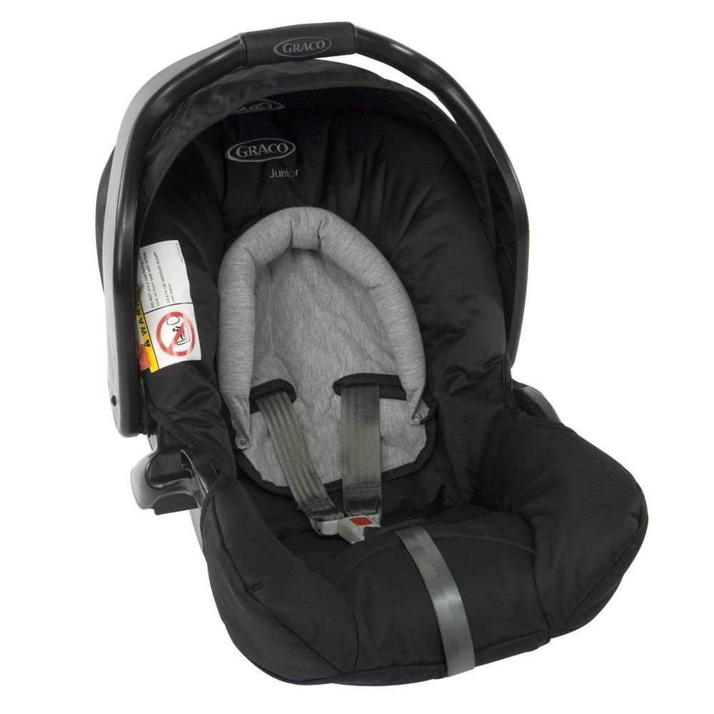 ac90baad9 The Junior Baby Car Seat is suitable from birth to around 12 months (0-13  Kgs) and features side impact protection and a 3-point safety harness, ...