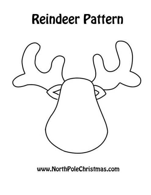 Patrón reno | esquemas y patrones | Pinterest | Navidad ...