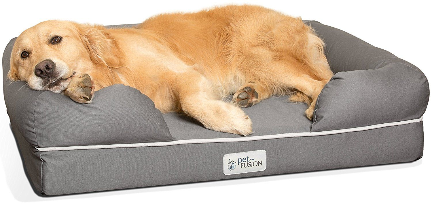 Petfusion Ultimate Solid 10cm Waterproof Memory Foam Dog Bed For Medium Large Dogs 91x71x23cm Orthopedi Dog Bed Large Memory Foam Dog Bed Orthopedic Dog Bed