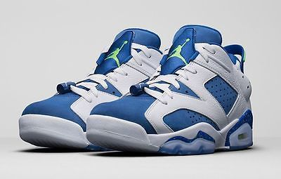47551ac5a589bc Nike Air Jordan 6 Retro Low Size 12.5 Seahawks White Ghost Green Blue  304401-106