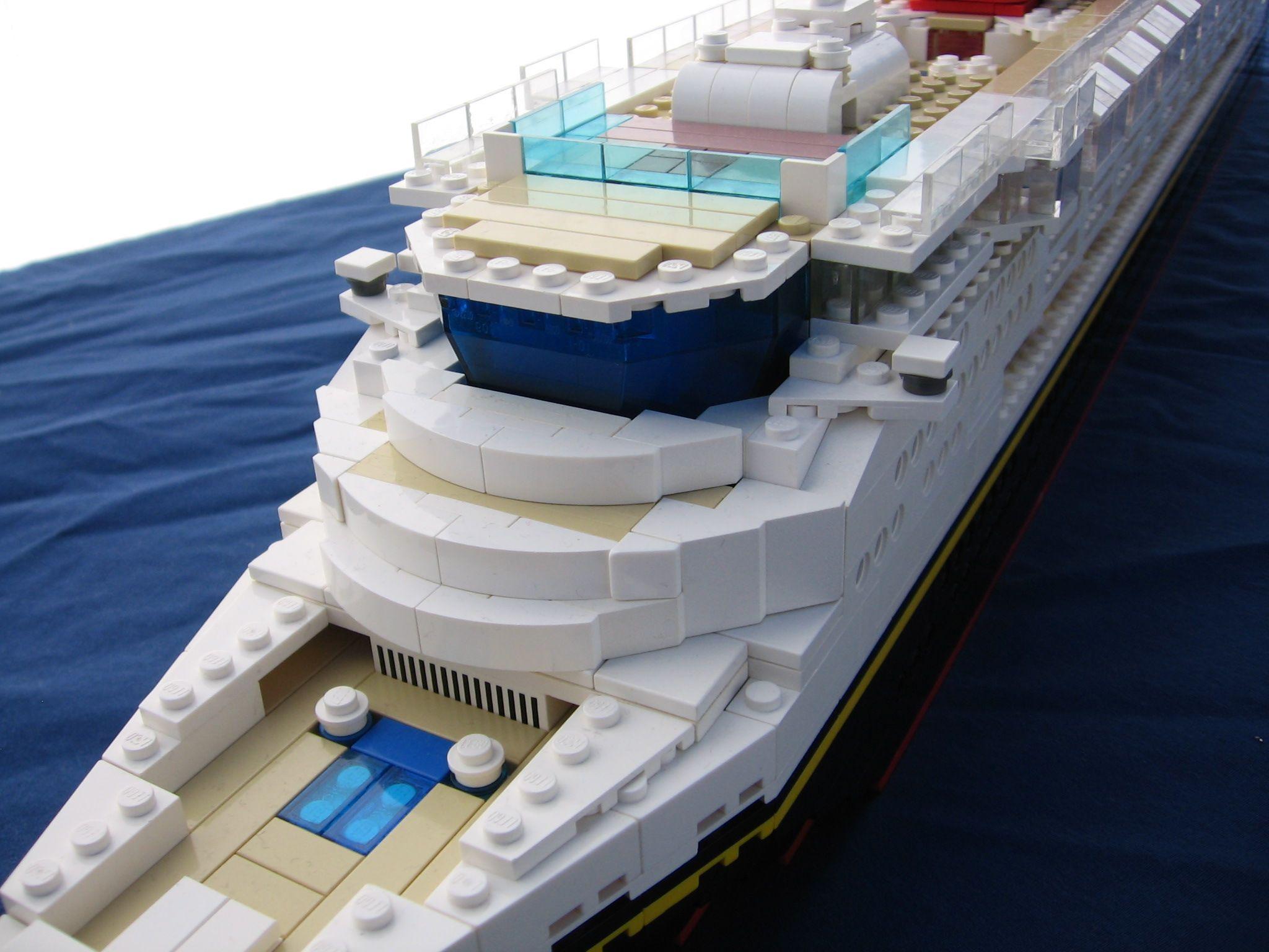 Lego Disney Cruise Ship Bridge Close-Up