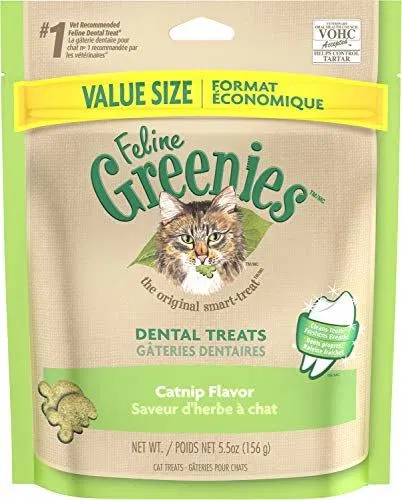 Greenies Feline Dental Cat Treats Catnip Roast Chicken Flavours Greenies Chicken Flavors