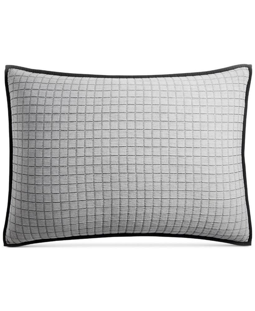 Hotel Collection Modern Plaid Cotton Navy Quilted King Pillow Sham 150 King Pillows King Quilt Navy Quilt