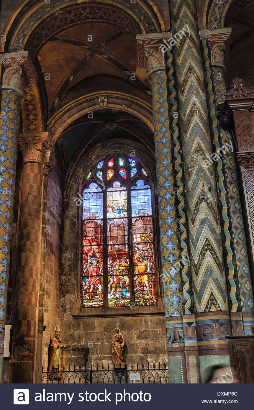 Stock Photo Interior Architecture Of Eglise Notre Dame La Grande Poitiers France Architecture Stock Photos Interior Architecture