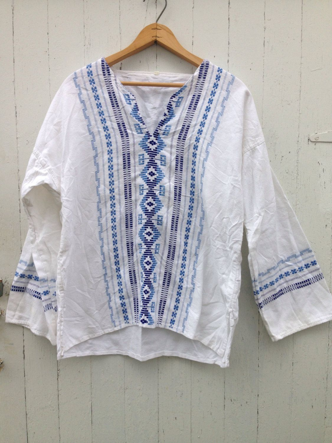 A personal favorite from my Etsy shop https://www.etsy.com/listing/492999860/vintage-70s-gauze-bell-sleeve-ethnic-top