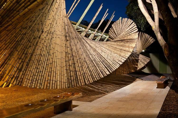 amazing bamboo installation at casa cor in brasilia details pinterest bambou et architecture. Black Bedroom Furniture Sets. Home Design Ideas